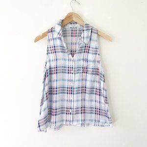 Equipment Vivacious Plaid Mina Blouse Size Small